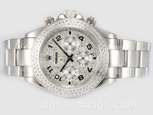 Rolex Daytona Automatic With Diamond Bezel- Full Diamond Dial 16237