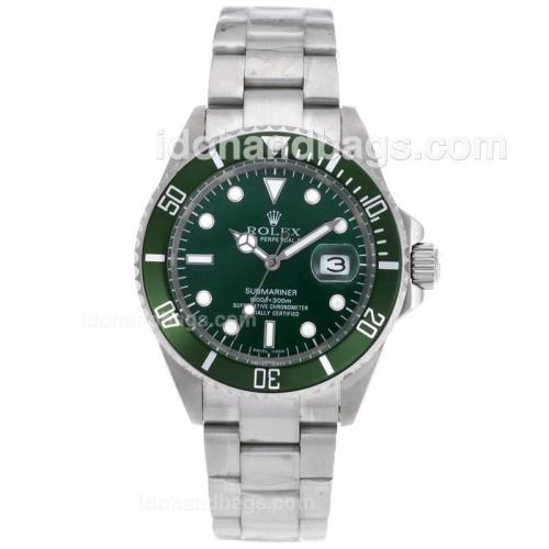 Rolex Submariner Automatic with Green Dial and Bezel 41112