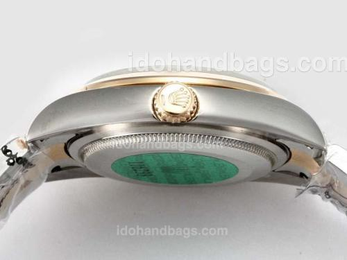 Rolex Air-King Oyster Perpetual Automatic Two Tone with Beige Dial-New Version 17467