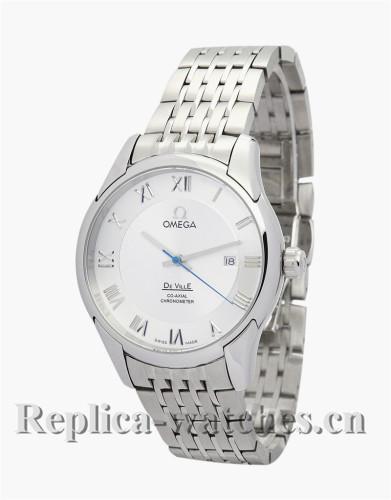 Omega De Ville Hour Vision Automatic White Dial Mens 41MM