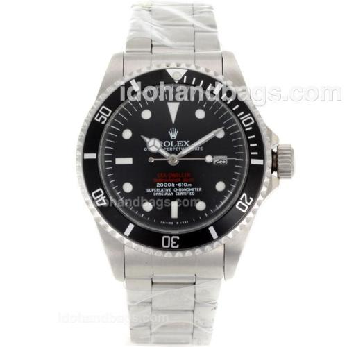 Rolex Sea-Dweller Submariner 2000 Swiss ETA 2836 Movement White Markers with Black Dial S/S-Vintage Edition 118200