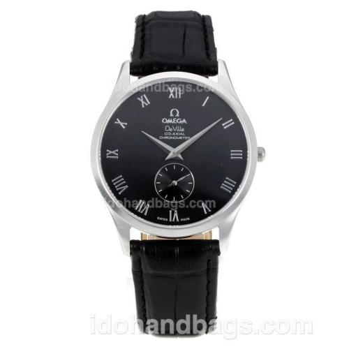 Omega Seamaster De Ville with Black Dial-Sapphire Glass- Roman Markers 172954