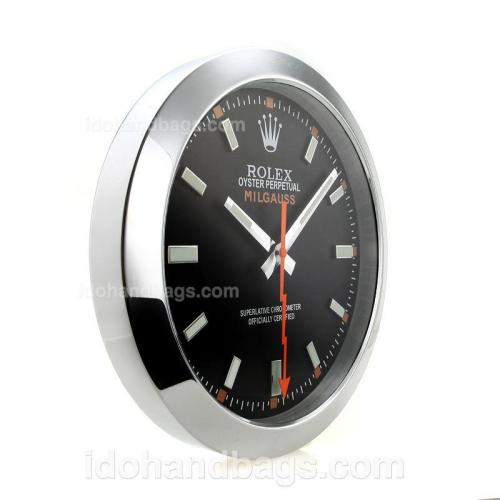 Rolex Milgauss Wall Clock with Black Dial-White Marker 182440