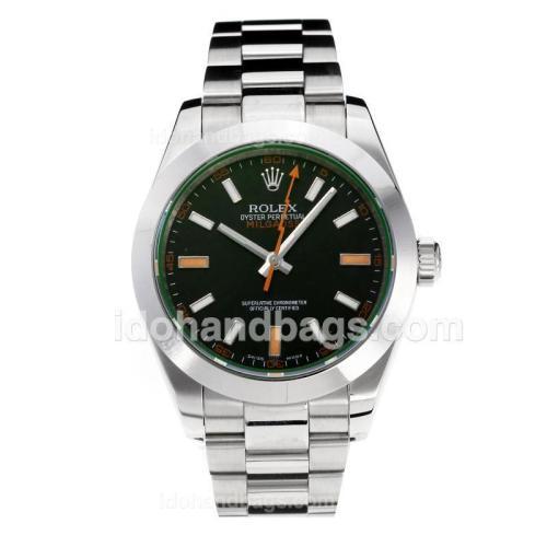 Rolex Milgauss Swiss ETA 3131 Movement with Super Luminous Black Dial S/S-Sapphire Glass 187056