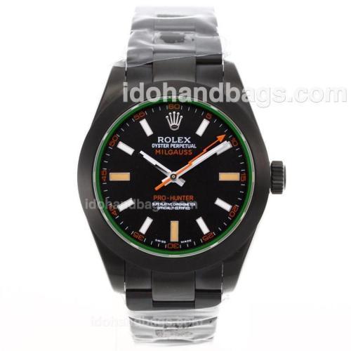Rolex Pro Hunter Milguass Full PVD With Swiss ETA 2836 Movement-1:1 Version 51912