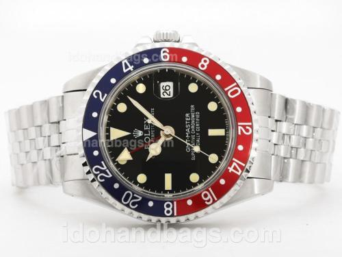 Rolex Vintage GMT SS Blue / Red Bezel With Jubilee Bracelet-Same Structure As Swiss ETA Version-High Quality 31905