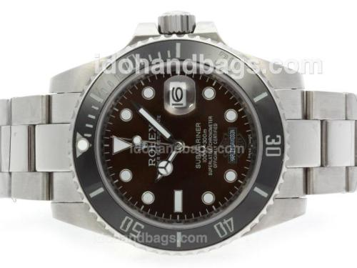 Rolex Submariner Harley Davidson Automatic with Brown Dial-Ceramic Bezel 41109