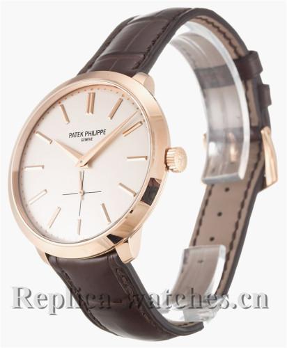 Patek Philippe Calatrava Leather Strap White Dial 38MM 5123R-001