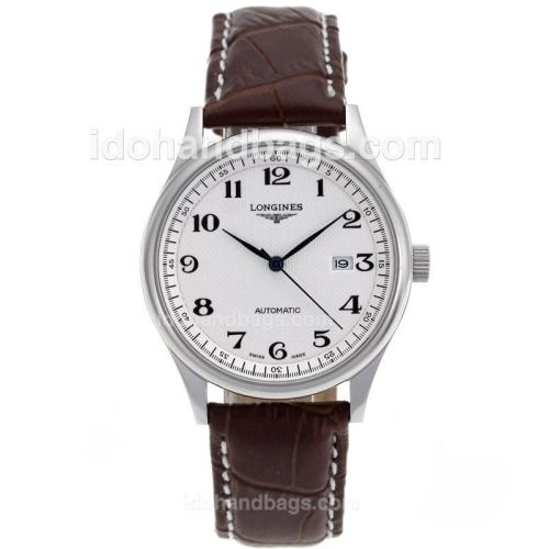 Longines Master Collection Automatic with White Dial-Sapphire Glass 82554