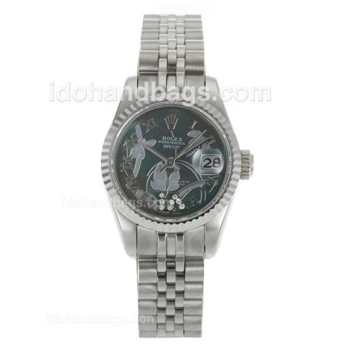 Rolex Datejust Automatic Roman Markers with MOP Dial-Flowers Illustration 116252