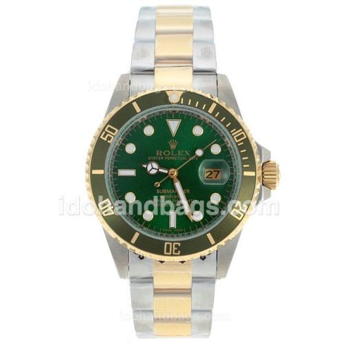 Rolex Submariner Automatic Two Tone with Green Dial 72397