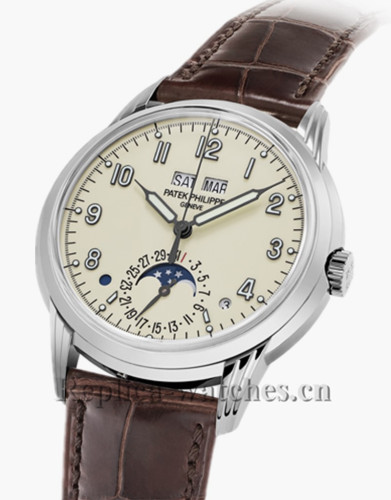 2017 Patek Philippe Perpetual Calendar Brown Leather Strap Ref 5320G