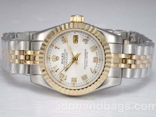 Rolex Datejust Automatic Two Tone with White Dial-Number Marking 11878