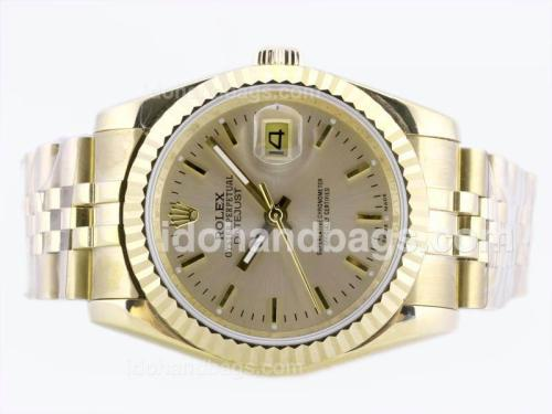 Rolex Datejust Automatic Full Gold with Golden Dial 22669