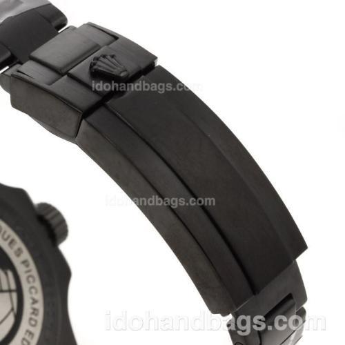 Rolex Sea-Dweller Swiss ETA 3135 Movement Full PVD with Black Dial-Ceramic Bezel 70780