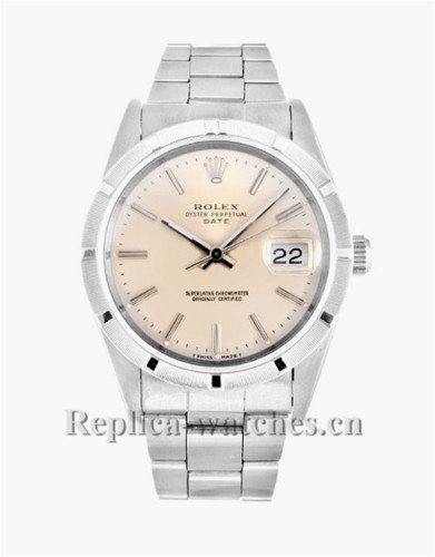 Rolex Oyster Perpetual Date Stainless Steel Strap 34MM 15210