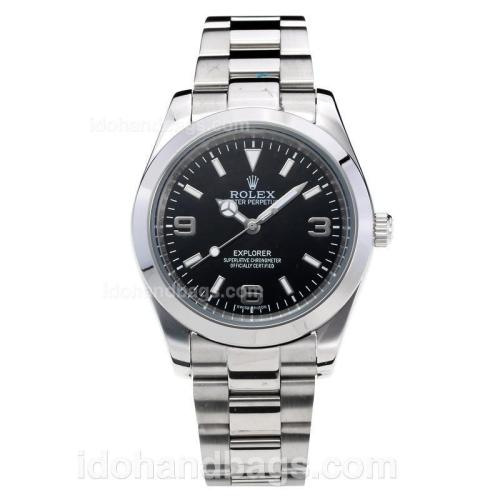 Rolex Explorer Automatic with Black Dial S/S Oversized Version 197878