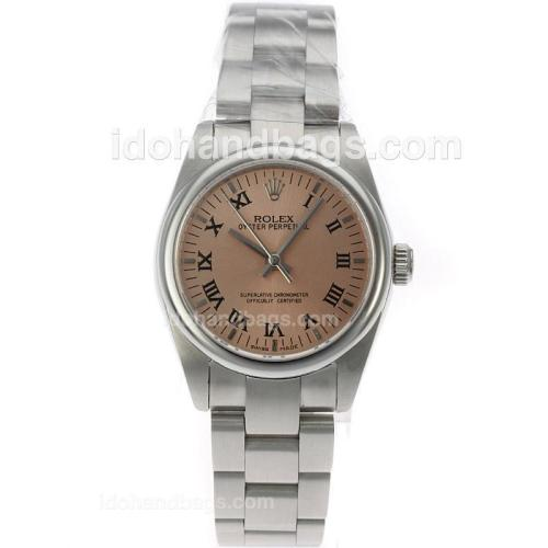 Rolex Air-King Swiss ETA 2836 Movement Roman Markers with Champagne Dial S/S-Mid Size 71752