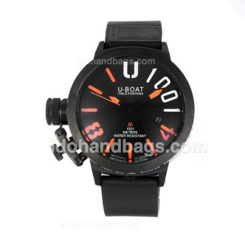 U-Boat Italo Fontana Automatic Full PVD with Black Dial-Orange Markers 167094