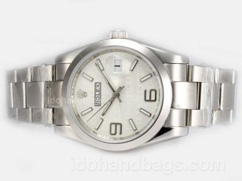 Rolex Datejust Automatic 2008 New Design Insignia White Dial 19303