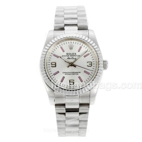 Rolex Air-King Oyster Perpetual Automatic with White Dial-New Version 20312