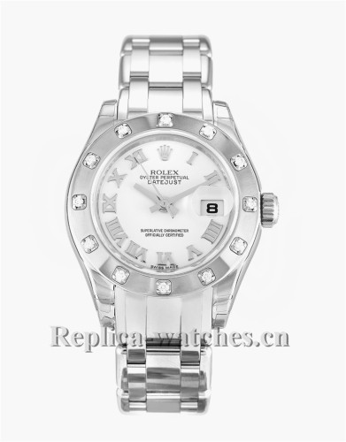 Rolex Pearlmaster White Dial 29MM 80319