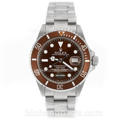 Rolex Submariner Harley Davidson Automatic with Brown Dial and Bezel-Updated Version 41110