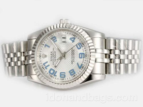 Rolex Datejust Automatic with White Dial-New Version Blue Marking 19287