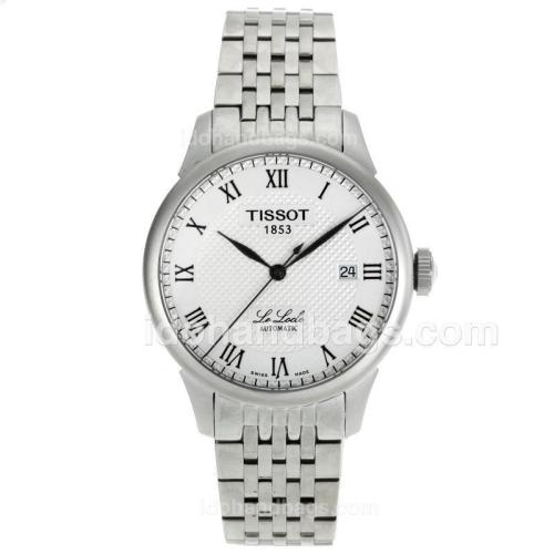 Tissot Le Locle Swiss ETA 2836 Movement Roman Markers with White Dial S/S 112056