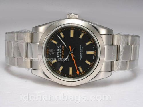Rolex Milgauss Swiss ETA 2836 Movement with Black Dial 10623