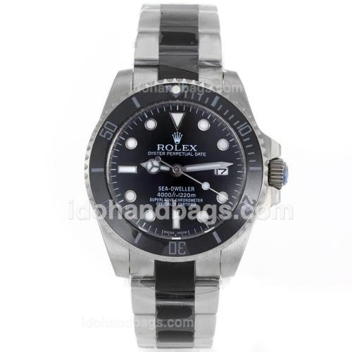 Rolex Sea-Dweller Automatic Ceramic Bezel with Black Dial S/S-Sapphire Glass 119084