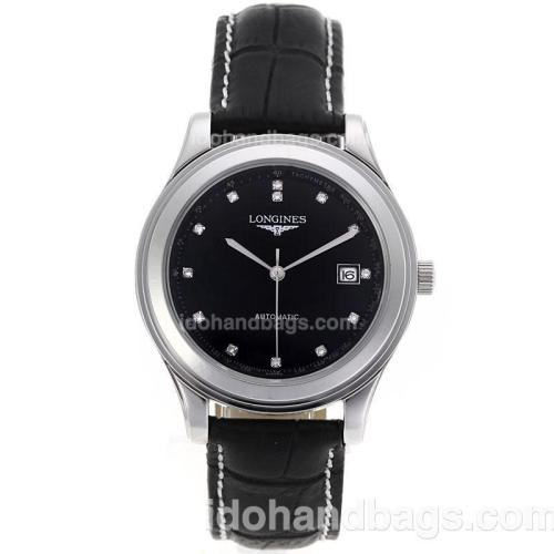 Longines Master Collection Automatic Diamond Markers with Black Dial-Sapphire Glass 83758