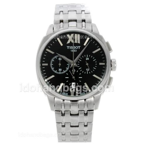 Tissot T-classic Working Chronograph with Black Dial S/S 138772