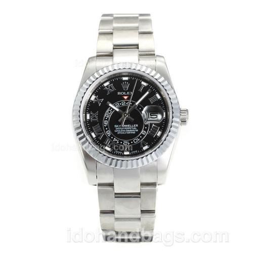 Rolex Sky Dweller Automatic with Black Dial S/S -Sapphire Glass 161896