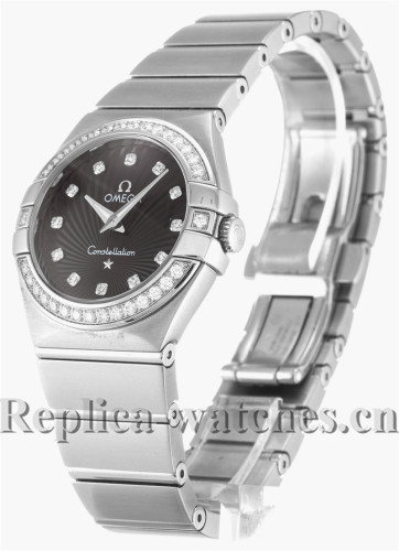 Omega Constellation Small Black Dial 27MM 123.15.27.60.51.001