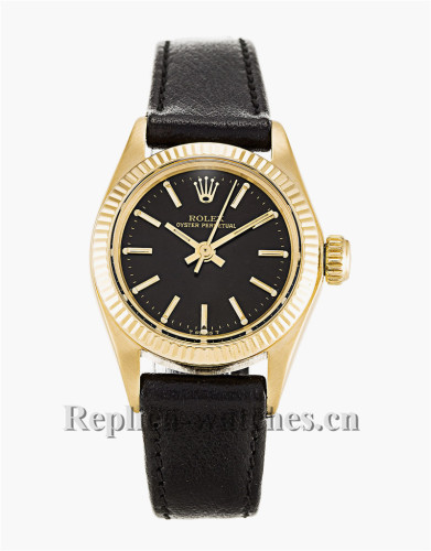 Rolex Lady Oyster Perpetual Black Dial 26MM 6718