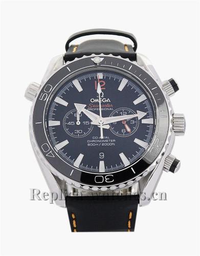 Omega Speedmaster Date Black Leather Strap 38MM