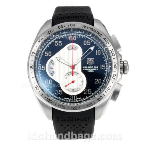 Tag Heuer Carrera Calibre 360 Working Chronograph with Black Dial-Black Rubber Strap 174564
