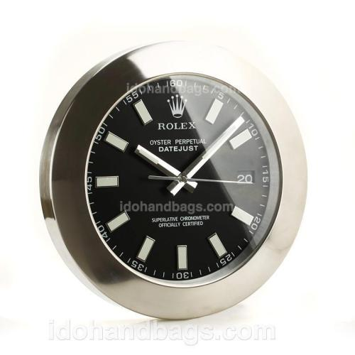 Rolex Datejust Wall Clock with Black Dial-White Stick Markers 189280
