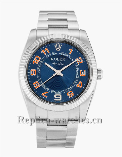 Rolex Air King Stainless Steel Strap Blue Dial 114234