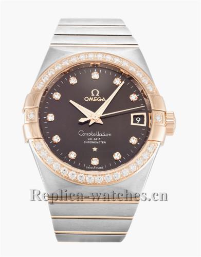 Omega Constellation Chronometer Diamond Bezel 38MM 123.25.38.21.63.001