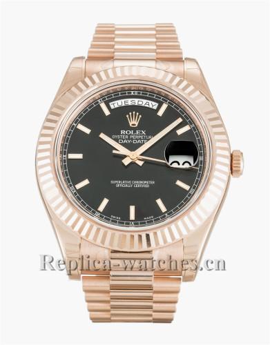 Rolex Day-Date II Black Dial 41MM 218235