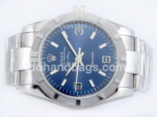 Rolex Air-King Precision Automatic with Blue Dial 23141