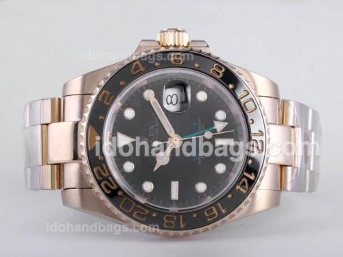 Rolex GMT-Master II Automatic Full Gold with Green GMT Markers-Ceramic Bezel 26076
