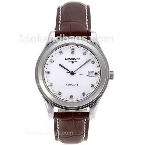 Longines Master Collection Automatic Diamond Markers with White Dial-Sapphire Glass 83760