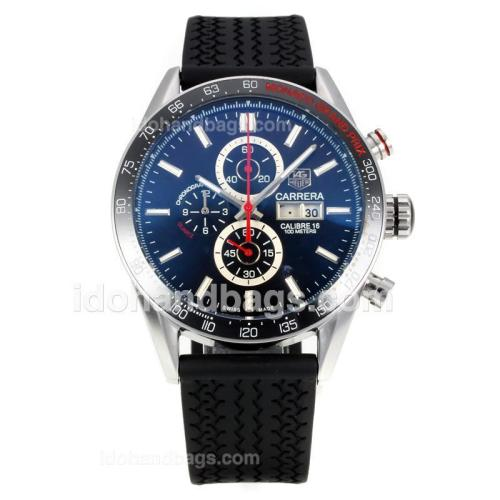 Tag Heuer Carrera Calibre 16 Working Chronograph Ceramic Bezel with Black Dial-Sapphire Glass 175882