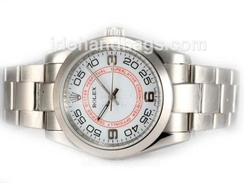 Rolex Air-King Oyster Perpetual Automatic with White Dial 19113