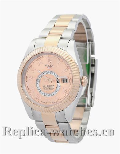 Rolex Sky-Dweller Rose Gold Dial 42MM 326938