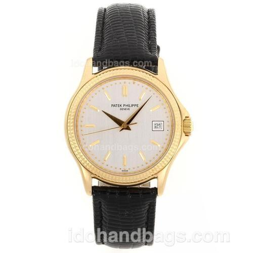 Patek Philippe Classic Automatic Full Gold Case Stick Markers with White Dial-Sapphire Glass 81811