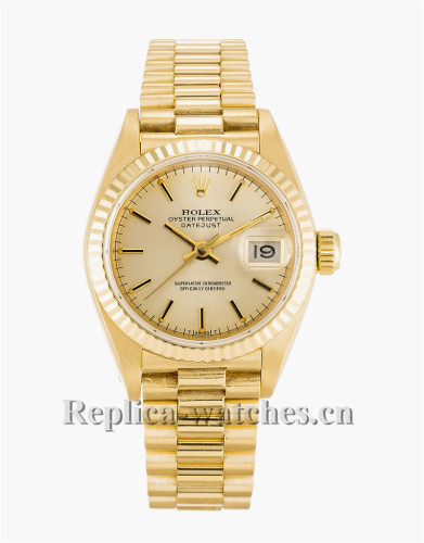 Rolex Datejust Lady Gold Dial 26MM 69178